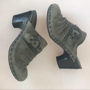 Dansko gray slip on clogs size 40
